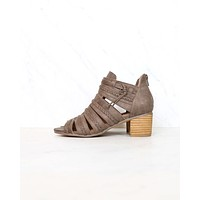 Not Rated - Cullie Open Toe Chunky Wooden Heel Sandal - Taupe
