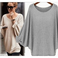 fhotwinter19 Hot sale bat sleeve loose fashion sweater