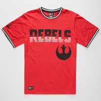 Lrg X Star Wars The Rebels Mens Ringer T-Shirt Red  In Sizes