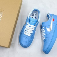 Off-white X Air Force 1 Low 07 Mca University Blue - Best Online Sale