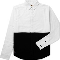 White Above And Below Shirt