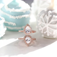 Selio Pear Pave Ring