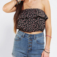Pins And Needles Ruffle Cropped Top
