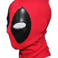 New Cool Marvel Superhero Deadpool Mask Breathable Fabric Faux Leather Full Face Mask Halloween Cosplay  Keep Warm Balaclava Hat