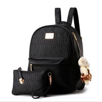 2016 NEW Fashion Designed Brand Backpack Women Backpack Leather School Bag Women Casual Style Backpacks + Small Bags -836