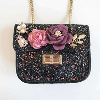Navy Sparkle Purse