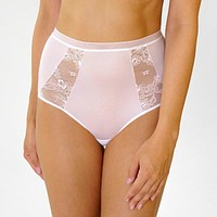 Semi Sheer Lace High Waist Panty Rosme Eliza White