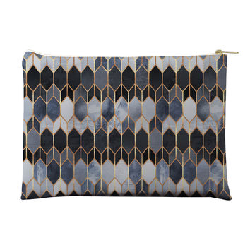 Blue Stained Glass Pouch