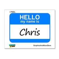 Chris Hello My Name Is Sticker