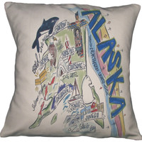Southern Apparel and Serendipity Roadmap Pillow Alaska