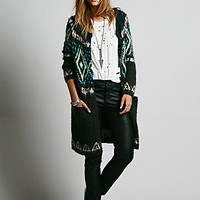 Free People Womens Frosted Fairisle Cardigan