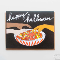 Scratch & Sniff Candy Corn Halloween Greeting Card