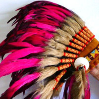 For Children Indian Fuchsia Feather by THEWORLDOFFEATHERS on Etsy