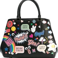 Anya Hindmarch Small 'all-over Stickers Featherweight Ebury' Tote - Julian Fashion - Farfetch.com