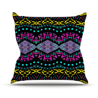 "Pom Graphic Design ""Tribal Dominance"" Throw Pillow"