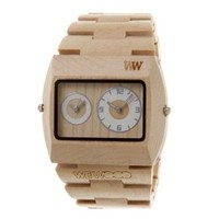 Wewood Men's Limited Edition Jupiter Beige Dual Movement Wooden Watch