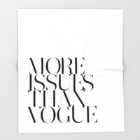 More Issues Than Vogue Ultra-Soft Throw Blanket