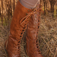Blame It On Me Boots: Cognac