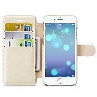 iPhone 6 Plus Case, Benuo [Wallet Series] [Stand Feature] Folio PU Leather Case Flip Cover [Anti Shock] [Card Holder] with Magnetic Closure for iPhone 6 Plus 5.5 inch (Champagne Gold)