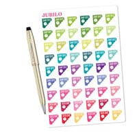 Planner Stickers - Day Off/Sick Day Stickers Scalloped Corner - Fits Any Planner!