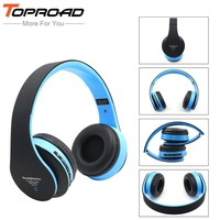 TOPROAD Wireless auriculares Bluetooth Headphone Hifi Headset Handsfree App Mic TF FM Stereo Music Earphone for Phones Computer