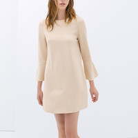 DRESS WITH BELL SLEEVES