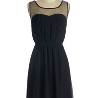 ModCloth LBD Mid-length Sleeveless A-line Exquisite on the Equinox Dress in Black