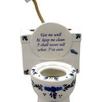 "Ceramic Toothbrush Holder (""Use Me Well..)"