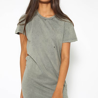 Moth Tee Dress - Khaki