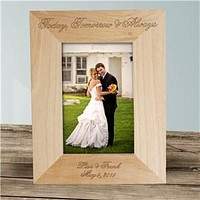 Engraved Today, Tomorrow and Always Wedding Wood Picture Frame