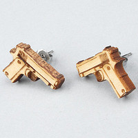 GoodWood The Baretta Stud Earrings in Natural : Karmaloop.com - Global Concrete Culture
