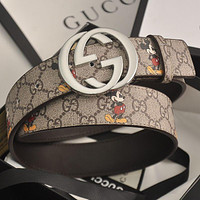 GG men's and women's double G letter smooth buckle belt
