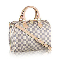 Authentic Louis Vuitton Speedy Bandoulière 25 Cross Body Leather Handles Bag Article: N41374