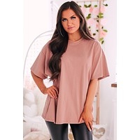 Retribution Distressed Oversized Top (Copper)