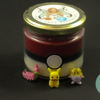 Pokeball Inspired Candle with a RANDOM POKEMON INSIDE!