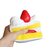 Cream Scented Slow Rising Squishy Slice Triangle Cake Toy
