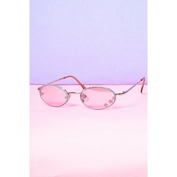 Baby Flowers Decal 90s Deadstock Sunglasses - Rose