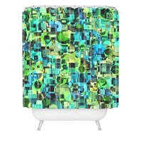 Lisa Argyropoulos Ocean Geo Shower Curtain