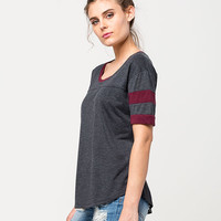 SIRENS AND DOLLS Womens Football Tee | Knit Tops & Tees