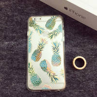 Super Cute Transparent Pineapple Case