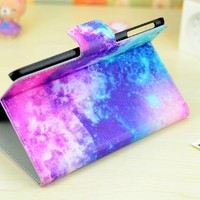 JBG Ipad Mini Lovely Colorful Painting Premium PU Leather Shell Case With Stand Protective Cover for Apple Ipad Mini (Style 4)