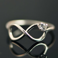 FALL SALE Infinity Ring - Promise Ring - Friendship Ring - Infinity Jewelry - Argentium Strerling Silver Jewelry - Handmade