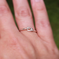 Love Knot Ring Sterling Silver Bridesmaid Friendship Ring Celtic knot