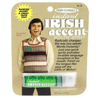 Instant Irish Accent Breath Spray - Whimsical & Unique Gift Ideas for the Coolest Gift Givers