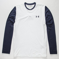Under Armour Coldgear Infrared Mens Henley Navy  In Sizes