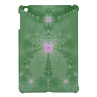 Green And Pink Floral Fantasy iPad Mini Covers from Zazzle.com