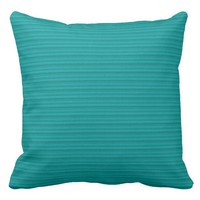 Simple Stripes Textured Look Green Throw Pillow