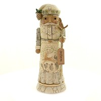 Jim Shore WOODLAND FESTIVITIES Polyresin Santa Nutcracker 6004171