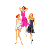 1990s Swim Dress Pattern Simplicity 8424 Halter of Bandeau Style Mini or Knee Length Size 12 Bust 34