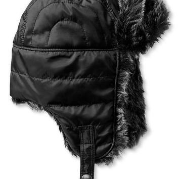 Banana Republic Mens Quilted Trapper Hat